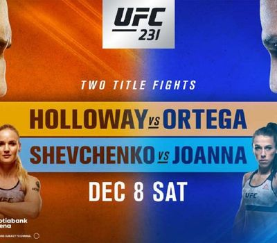 UFC 231: Holloway vs. Ortega online