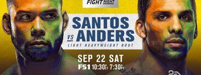 UFC Fight Night 137: Santos vs. Anders online