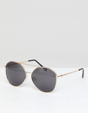 Selected Femme Aviator Sunglasses - Gold