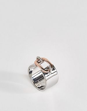 Fiorelli Rose Gold Loop Ring - Silver