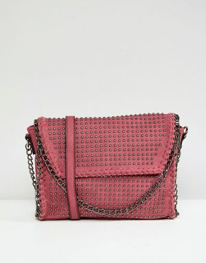 Yoki Chain Detail Across Body Bag - Navy