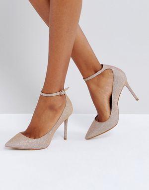 KG by Kurt Geiger Estha Strap Sparkle Court Shoes - Pink