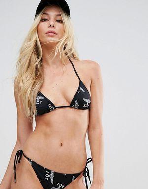 Boy London Repeat String Bikini Top - Black