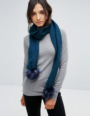 Alice Hannah Core Range Stitch Inter Scarf - Navy
