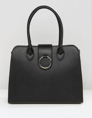 ASOS Tote Bag With Ring Detail - Black