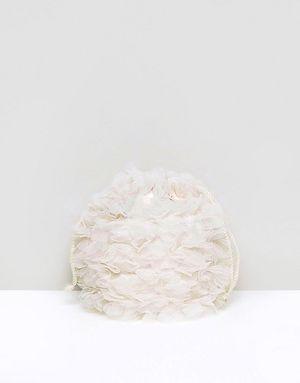 ASOS WEDDING Soft Floral Pouch Bag - Cream