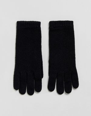 Johnstons of Elgin 100% Cashmere Gloves in Black - Black