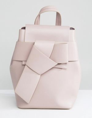 French Connection Knotted Backpack - Pink
