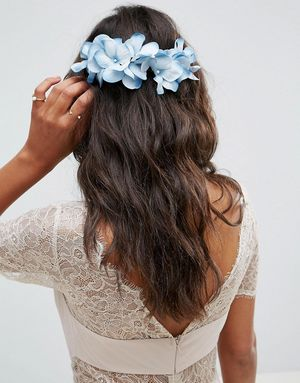 ASOS Soft Flower Side Hair Clip - Blue