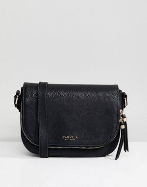 Carvela Soula Day Saddle Zip Across Body Bag - Black
