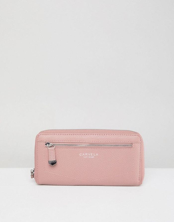 Carvela Alis Zip Around Purse - Pink