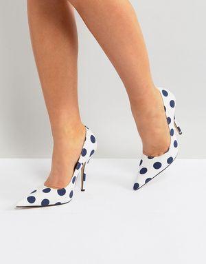 Public Desire Tease Polka Dot Court Shoes - Multi