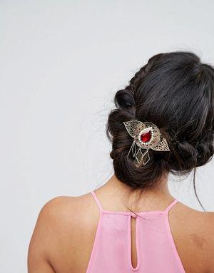 ASOS Vintage Style Filigree Hair Clip - Multi
