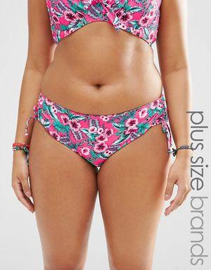 Marie Meili Gwendolen Plus Size Bikini Bottoms - Pink