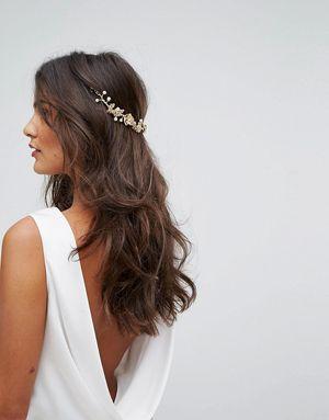 LoveRocks London Flower Cluster Hair Drape - Gold