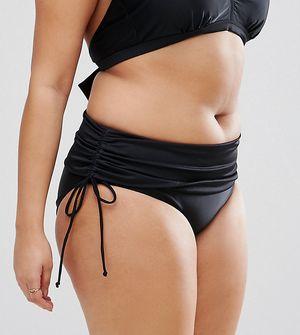 Junarose Wrap Up Bikini Bottoms - Black