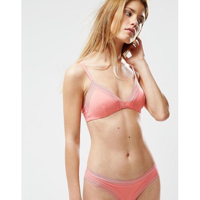 Oysho Pink Triangle Bra - Pink