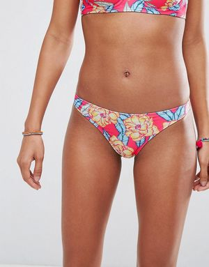 ASOS Mix and Match Hipster Bikini Bottom in Carnival Floral Print - Multi