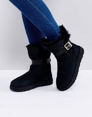UGG Jaylyn Strap Black Boots - Black