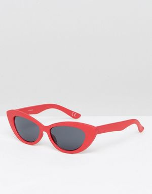 ASOS Small Pointy Cat Eye Sunglasses - Red