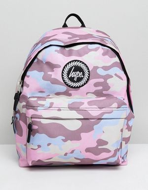 Hype Pink Camo Backpack - Pink