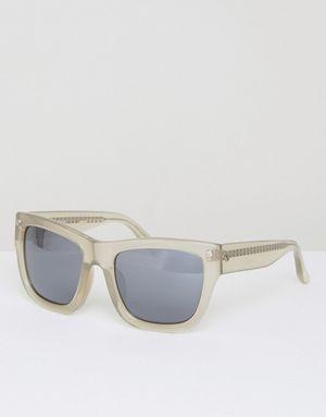 Matthew Williamson Smoke Mirrored Lens Square Sunglasses - Grey