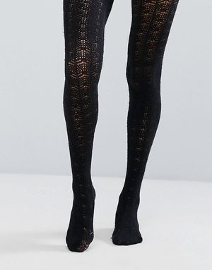 Free People Knitted Tights - Black