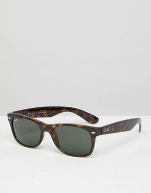 Ray-Ban 0RB2132 Wayfarer Sunglasses in Tort 52mm - Brown