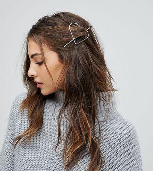 Reclaimed Vintage Inspired Heart Hair Pin - Gold