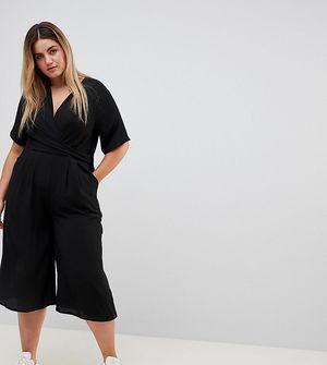 New Look Curve Wrap Jumpsuit - Black