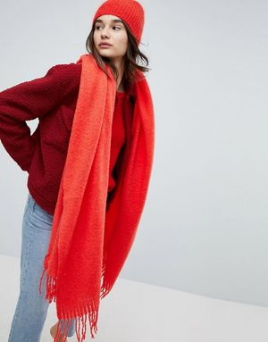 Weekday Mohair Scarf - Red