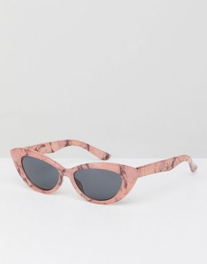 ASOS Small Pointy Cat Eye Sunglasses - Pink