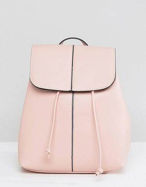 Pieces Clean Backpack With Drawstring - Pink