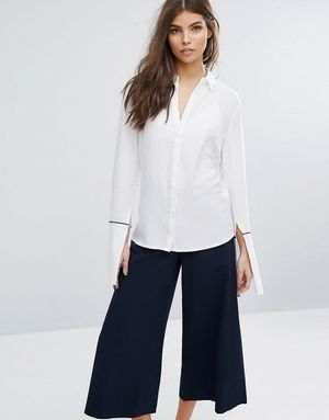 Unique21 Shirt With Contrasting - White