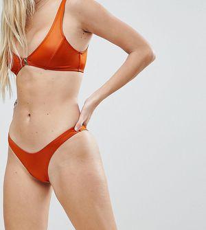 Free Society High Leg Bikini Bottom - Copper