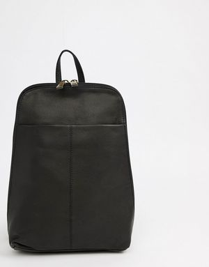 ASOS Mini Leather Backpack - Black