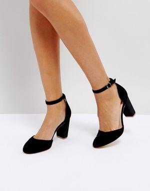 Coco Wren Block Heel Shoe - Black