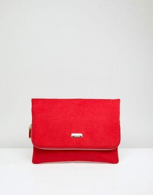 Faith Pring Foldover Clutch Bag - Red