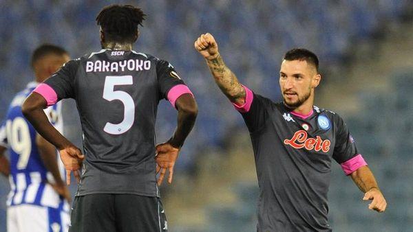 Real Sociedad-Napoli 0-1: gol di Politano, infortunio di Insigne , Osimhen espulso