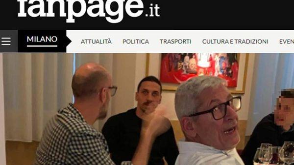 Ibra ieri al ristorante con Milano in zona rossa: è polemica