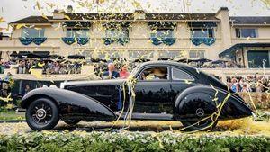 Pebble Beach,  una Mercedes unica del 1938 vince il concorso d'eleganza