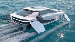Future-E: la supercar del mare che vola sulle onde grazie ai foil