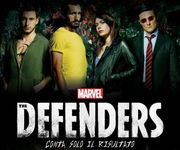 辛尼迪、基亞連尼、達美安化身超級英雄,為《捍衛者聯盟》拍攝宣傳片。