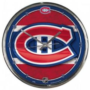 MONTREAL CANADIENS -  CHROME WALL CLOCK (12