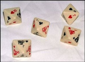 SPECIAL DICE -  8-SIDED POKER DICE