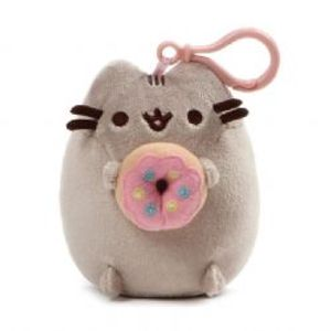 PUSHEEN -  PUSHEEN WITH DONUT BACKPACK CLIP (5INCH)
