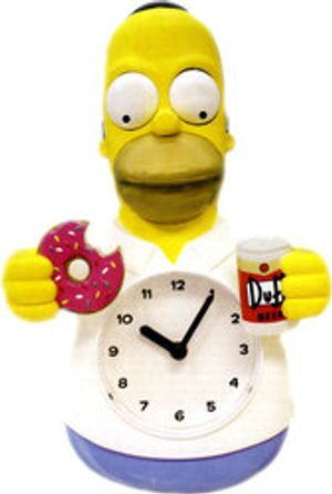 SIMPSON, LES -  HORLOGE ANIMEE HOMER SIMPSON