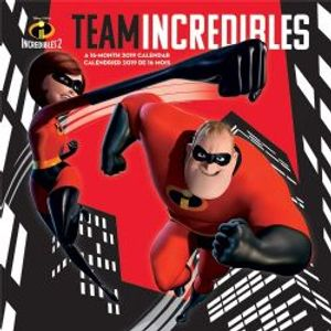 INCREDIBLES, THE -  2019 WALL CALENDAR (16 MONTHS) -  INCREDIBLES 2, THE