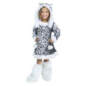 ANIMALS -  SNOW LEOPARD COSTUME (TODDLER - LARGE 3T-4T)