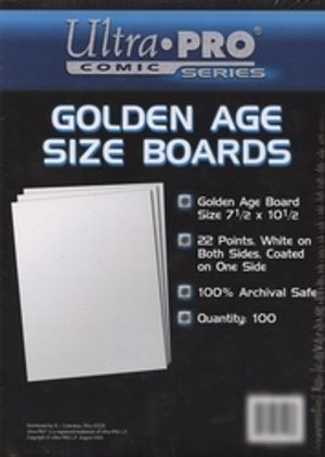 BACK BOARDS -  GOLDEN AGE SIZE (100)